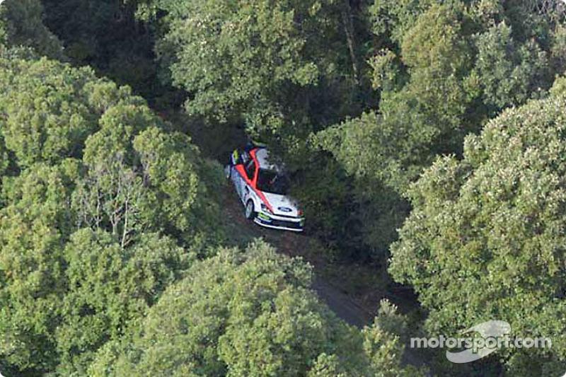 Damaged Ford of Carlos Sainz