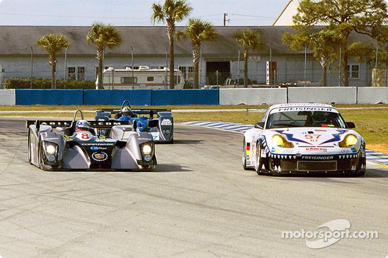 Cadillac Northstar LMP 02 and Porsche GT3 R