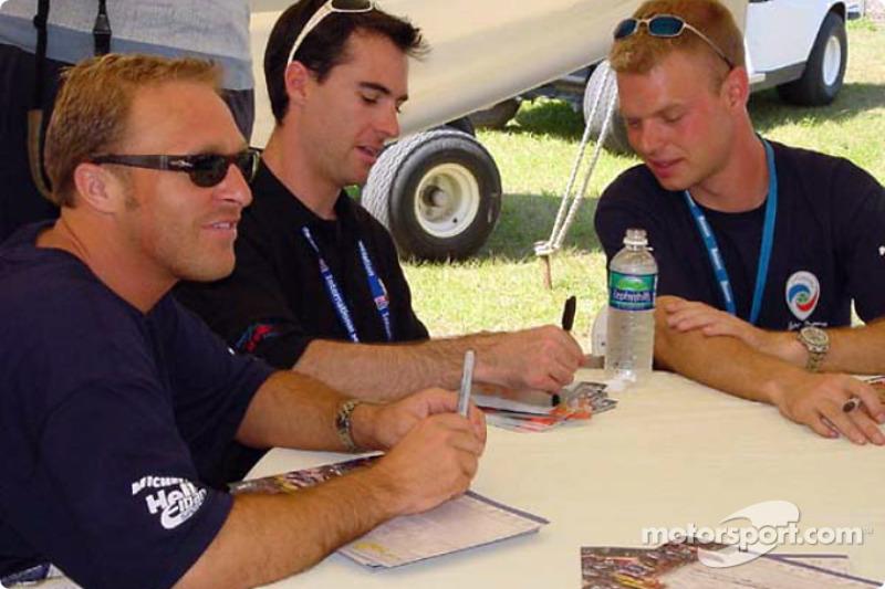 Interview time for Bill Auberlen, Bryan Herta and Jan Magnussen