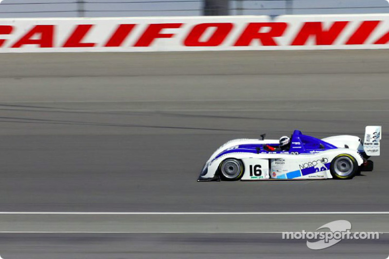 James Weaver races on California Speedway's oval during qualfiying for Saturday's Grand American 400
