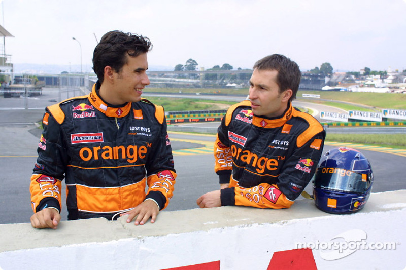 Enrique Bernoldi and Heinz-Harald Frentzen