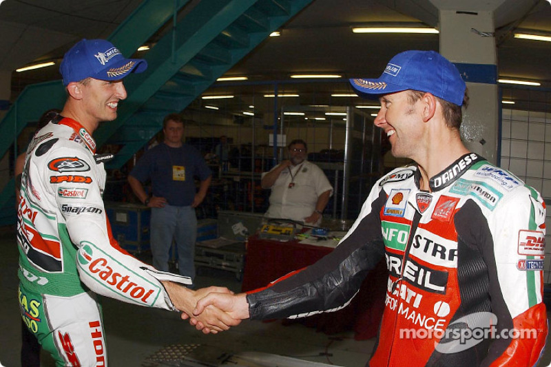 Troy Bayliss and Colin Edwards