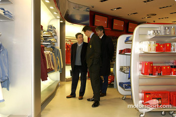 Official opening of Ferrari Store, Maranello: Jean Todt and Michael Schumacher