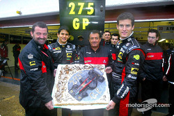 275 Grands Prix for Minardi: Paul Stoddart, Alex Yoong, Gian Carlo Minardi and Mark Webber