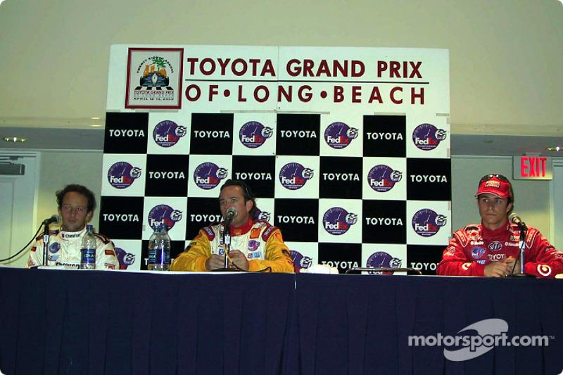 Press conference: Cristiano da Matta, Jimmy Vasser and Bruno Junqueira