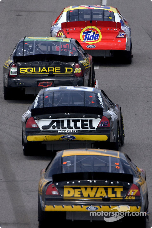 Ricky Craven, Bobby Hamilton, Ryan Newman and Matt Kenseth