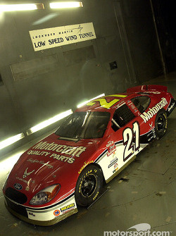 Visit to the wind tunnel at Lockheed Martin in Marietta, Georgia: the Motorcraft Ford Taurus driven by Elliott Sadler goes through the wind tunnel