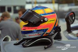 Timo Scheider's helmet