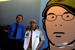 British artist Julian Opie brings together Art and Formula 1 racing: Julian Opie and Jacques Villeneuve