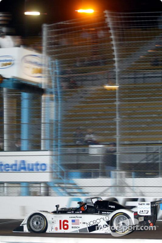 James Weaver takes the checkered flag winning the UnitedAuto 200