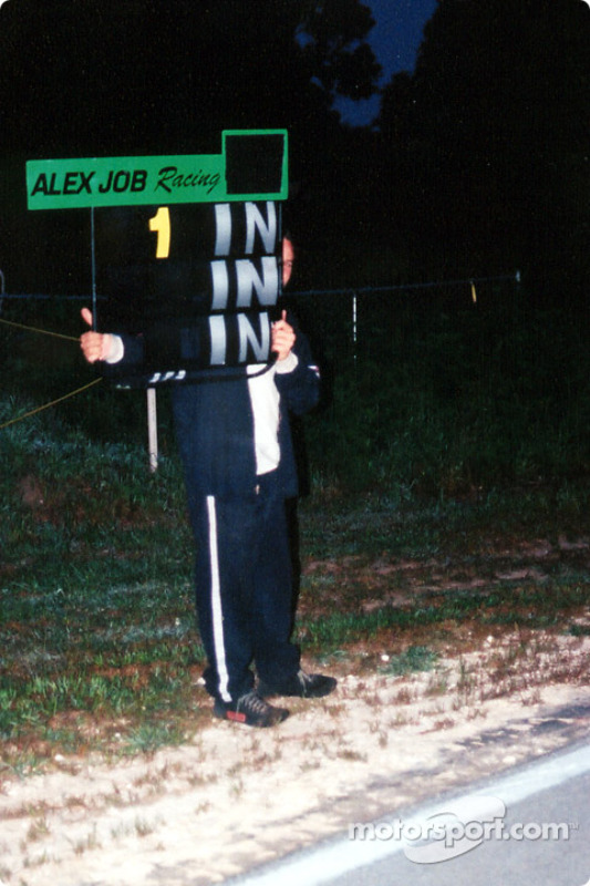 The Alex Job entrys saw familiar pit board signs, the same ones used at Daytona, Sebring and Le Mans