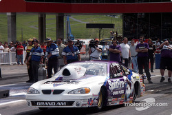 Jim Yates launches his Pro Stock Pontiac