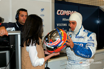 Juan Pablo Montoya and girlfriend Connie