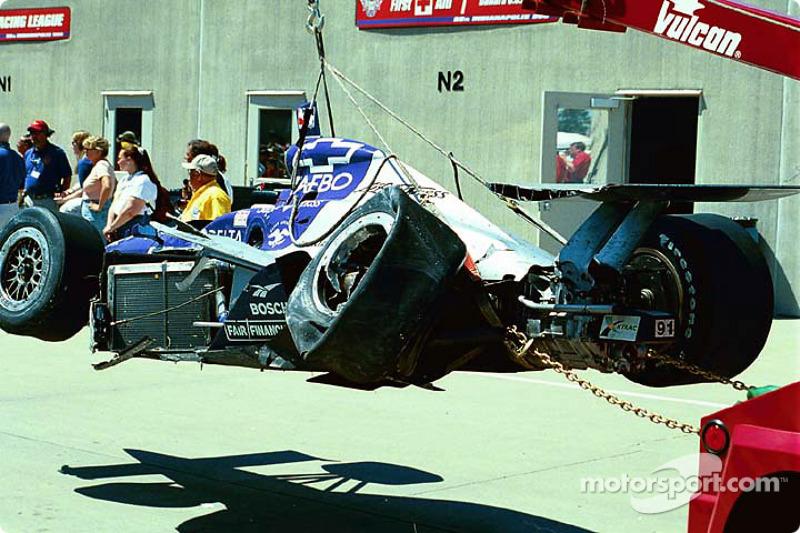 Buddy Lazier's damaged car