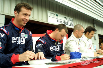 Matt Neil, Paul O'Neill, James Thompson and Yvan Muller