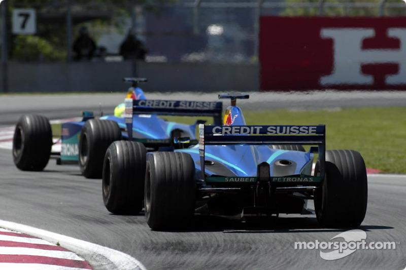 Felipe Massa and Nick Heidfeld