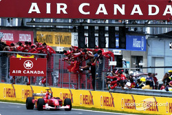Checkered flag for Michael Schumacher