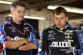 Crew Chief Matt Borland and Ryan Newman