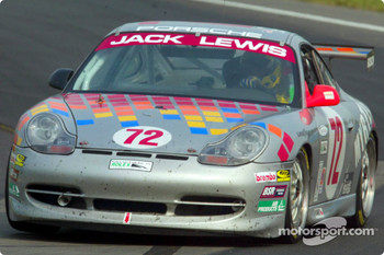 The Jack Lewis Enterprises #72 Porsche was able to take over the GTS lead in the final laps of the race with the leading Porsche's windshield collasped in on the driver