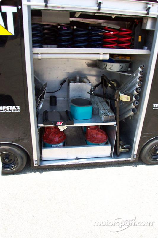 Ward Burton Caterpillar Dodge's team garage wagon