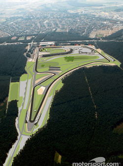 The re-designed part of Hockenheim's Grand Prix circuit