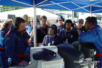 Panoz Motor Sports pit area