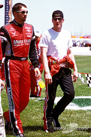 Elliott Sadler and Dale Earnhardt Jr.
