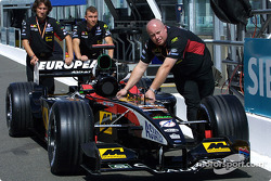 Team Minardi going to technical inspection