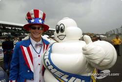 Uncle Gunnar with Bibendum, the Michelin Man