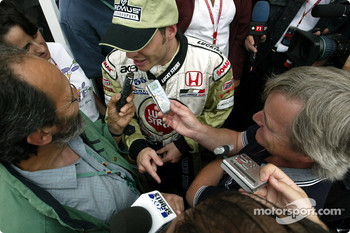 Interview time for Jacques Villeneuve