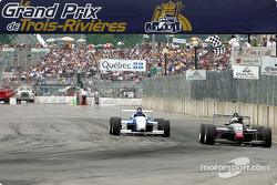 Race winner Michael Valiante and Alex Gurney