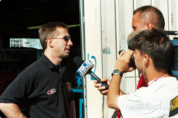 John Andretti meet the press