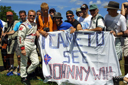 Johnny Herbert and his fan club