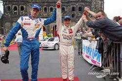 Marcus Gronholm with rally winner Sébastien Loeb