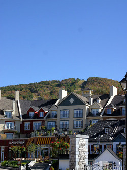 The village of Mont-Tremblant and the ski station in the background
