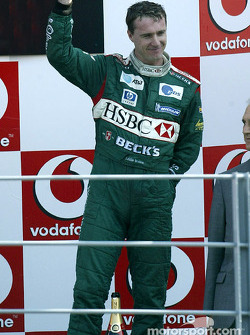 The podium: Eddie Irvine