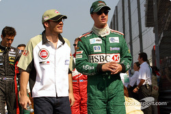 Jacques Villeneuve and Eddie Irvine