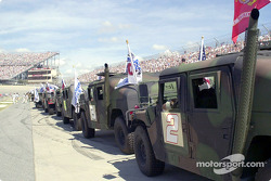 HumVees lined up