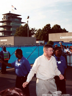Ross Brawn leaves for the day