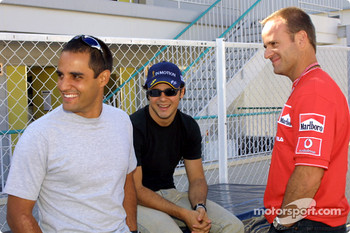 Juan Pablo Montoya, Felipe Massa and Rubens Barrichello