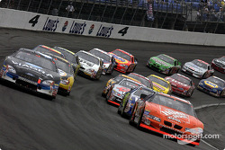 The start: Tony Stewart and Mark Martin lead the field