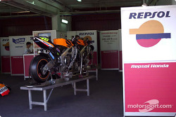 World Champion Valentino Rossi's Honda race bike
