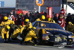 Matt Kenseth pits during the Pit Crew World Championship; the Dewalt team successfully defended the title they won in 2001