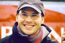 A happy Jacques Villeneuve