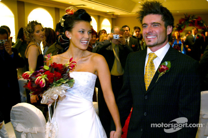Canadian CART driver Alex Tagliani wed Bronte Kok in Montréal