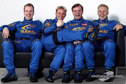 Petter Solberg, Phil Mills, Tommi Makinen and Kaj Lindstrom