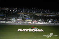 Daytona International Speedway by night