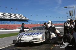 Pitstop for #09 Flis Motorsports Corvette: Paul Menard, Doug Goad, Paul Mears Jr., James Briody