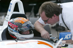 J.J. Lehto with Brad Kettler, Technical Director of Champion Racing