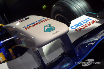 Nose of the new Sauber Petronas C22